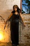 Dangerous Goth Girl Stock Photography