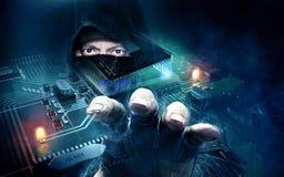 Dangerous hacker stealing data -concept Royalty Free Stock Image