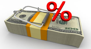 Dangerous interest rate. Financial risk Royalty Free Stock Photography