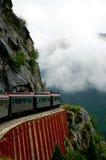 Dangerous journey. Train tour between Canada and Alaska Stock Images