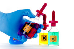Free Dangerous Lab Chemicals. Royalty Free Stock Photo - 19101805
