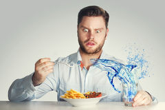 Dangerous lunch Stock Photos