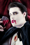 Dangerous male vampire Drinking blood Stock Photos