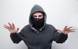 Dangerous man in mask Royalty Free Stock Photography