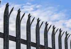 Dangerous metallic fence Stock Photo