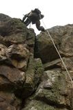 Dangerous military alpinism Stock Photos