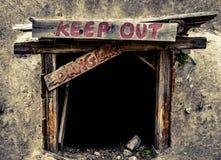 Dangerous Mine Entrance Stock Image
