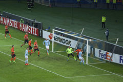 Dangerous moment at the gates Shakhtar Royalty Free Stock Photography