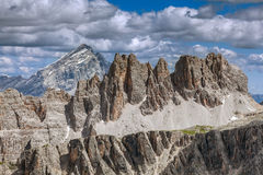 Dangerous mountain peaks - Dolomites, Italy. Stock Photography