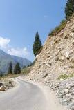 Dangerous mountain road Stock Images