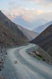Dangerous mountain road Stock Photos