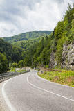 Dangerous mountain road in Tatra Mountains Stock Images