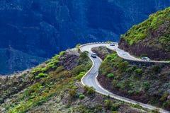 Dangerous Mountain Road. In Tenerife, Spain Stock Images