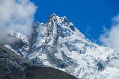 Dangerous mountain snow slopes Royalty Free Stock Image