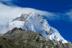 Dangerous mountain snow slopes Stock Image