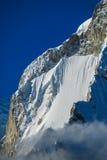 Dangerous mountain snow slopes Stock Photo