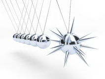 Dangerous Newton's cradle Royalty Free Stock Photo