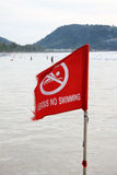Dangerous no swimming Stock Photography