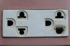 Dangerous old plugs Royalty Free Stock Image
