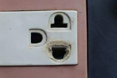 Dangerous old plugs Royalty Free Stock Photo