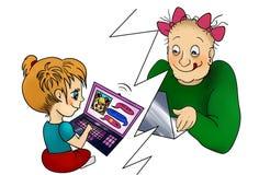 Dangerous online friendship concept. Stock Photography
