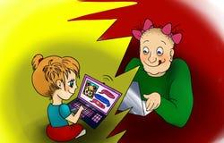 Dangerous online friendship concept. Royalty Free Stock Image