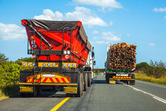 Dangerous overtaking maneuver. In South Africa Stock Image