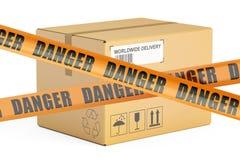 Dangerous parcels concept, 3D rendering Stock Photos