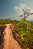 Dangerous path in mountain Stock Photography