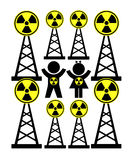 Dangerous Radiation Exposure Royalty Free Stock Photography