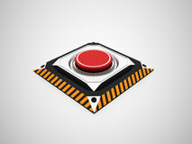Dangerous red button Royalty Free Stock Images