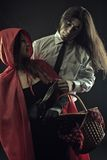 Dangerous Red Riding Hood Royalty Free Stock Photo
