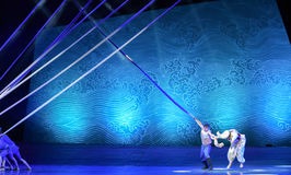 """Dangerous rescue -Dance drama """"The Dream of Maritime Silk Road"""" Royalty Free Stock Images"""