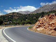 Dangerous road Stock Images
