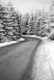 Dangerous road. Dangerous slippery road at the mountain Royalty Free Stock Photography