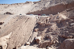 Dangerous road on Atacama desert, Chile Stock Photography