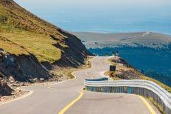 Dangerous road in Parang Mountains in Romania Stock Photos
