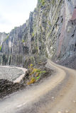 Dangerous road to Lahich, Azerbaijan Royalty Free Stock Photography