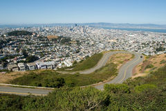 Dangerous road Twin Peaks Stock Photo