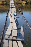 Dangerous rural bridge Stock Photography