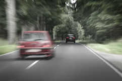 Dangerous situation on the road, blurred out Royalty Free Stock Images