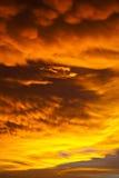 Dangerous sky. Sunlight at dangerous sky strom Stock Images