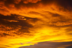 Dangerous sky. Before the big strom Royalty Free Stock Photos