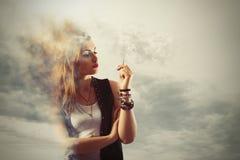Dangerous Smoking Royalty Free Stock Images