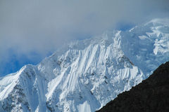 Dangerous snow mountain Stock Images