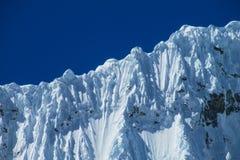 Dangerous snow mountain Stock Photos
