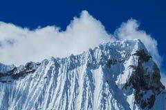 Dangerous snow peak slopes Royalty Free Stock Images