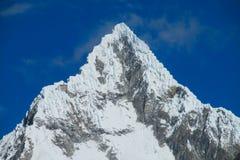 Dangerous snow and rocky peak in Huascaran Stock Photos