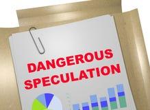 Dangerous Speculation - business concept. 3D illustration of DANGEROUS SPECULATION title on business document Stock Images