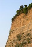 Dangerous steep clif Stock Image